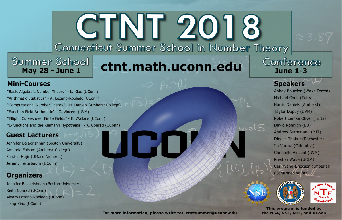 Conference | Connecticut Summer School in Number Theory