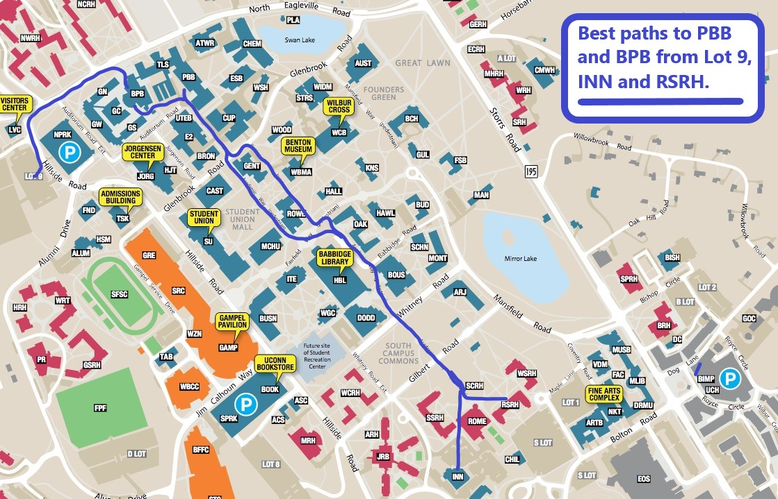 Uconn Storrs Campus Map Local Info for CTNT 2018 | Connecticut Summer School in Number Theory